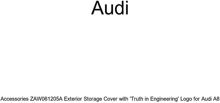 Genuine Audi Accessories ZAW061205 Exterior Storage Cover with Truth in Engineering Logo for Audi A8