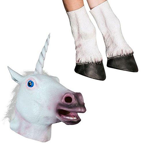 Unicorn Head Masks (MRK Halloween Unicorn Head and Hooves Mask)