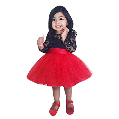 (Toddler Kids Baby Girls Tutu Dresses Bowknot Slim Fit Mesh Tulle Wedding Mini Skirts (4-5 Years,)