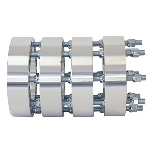 8x170 to 8x170 Thread M14x1.5 - Center Bore 130 MM 1.5'' thick spacer with lug nuts by Smart Parts (Image #3)