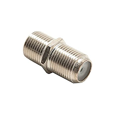 F Coupler Female Splice 50 Pack F-81 Coaxial Dual Female Splice Connector RG6 RG