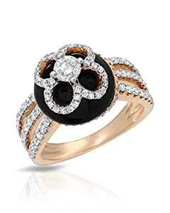 Michael Christoff 18K Rose Gold 0.98 CTW Diamonds and 2.77 CTW Agate Women Ring. Ring Size 6.5. Total Item weight 7.5 g.