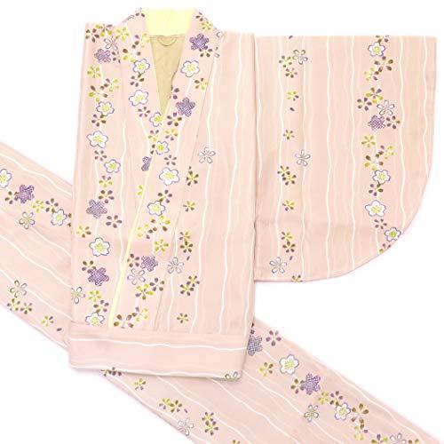二部式着物 洗える着物 袷 単品 小紋柄の着物 Mサイズ「ベージュピンク」HANM1801