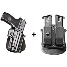 Fobus Concealed Carry LEFT HAND Paddle Holster + 6910/6909ND Double Magazine Pouch for Sig Sauer 226 & 228 with Rails 245, 225 / Norinco NC226 / Smith&Wesson 3913, 4013, 5904, 6906, 5946, 3919, CS9. Not for T / S&W 6906, 4566, 4003 / SAR Arms B6 / Tristar C100, L120