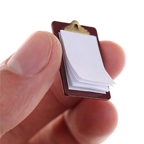 GSPet Mini Lovely Paper Clipboard Kids Dollhouse Toy House Miniature Accessories - Dark Brown
