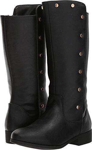 Nine West Girls' Stephaniah Fashion Boot, Black Smooth, 6 Medium US Big - Nine Kids West Boots