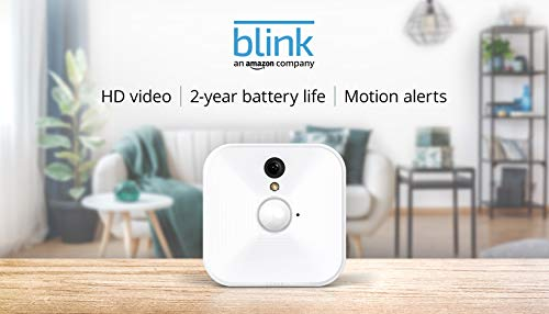Blink Indoor Home Security Camera System with Motion Detection, HD Video, 2-Year Battery Life and Cloud Storage Included - 1 Camera Kit