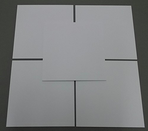 """Pack of 10 12x12 Square 1/8"""" White Foam Core Backings"""
