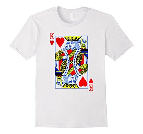 Mens King Of Hearts T-Shirt Halloween Costume Idea 2017 Medium White (Men Halloween Costumes Ideas 2017)
