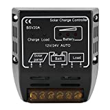 EBTOOLS Solar Charge Controller 12V 20A Automatic Identification Battery Regulator