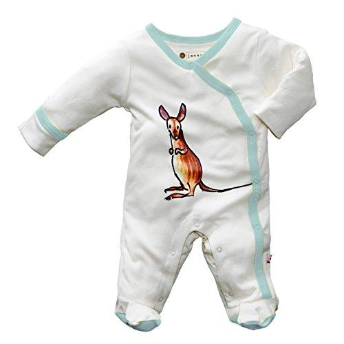 - Babysoy Janey Baby Footed Pajamas - Organic Kimono Sleeper (12-18 Months, Mala)
