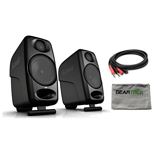 - IK Multimedia iLoud Micro Monitors Bluetooth compact studio monitors w/Cleaning
