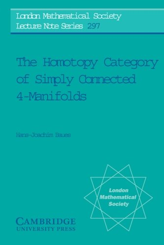The Homotopy Category of Simply Connected 4-Manifolds (London Mathematical Society Lecture Note Series)
