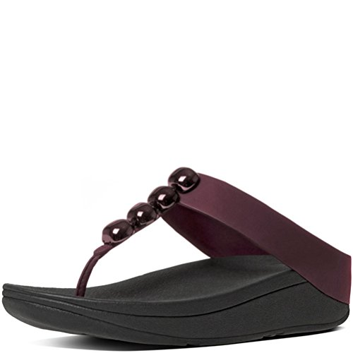 c432b36e9f21d Galleon - FitFlop Womens Rola Hot Cherry Thong Sandal - 11