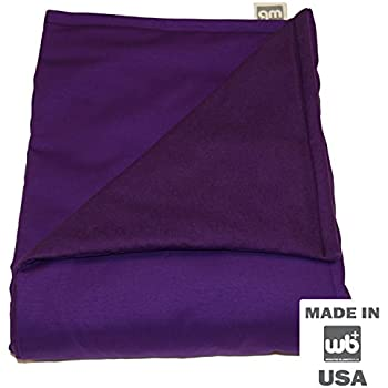 "WEIGHTED BLANKETS PLUS LLC - CHILD SMALL WEIGHTED BLANKET - PURPLE - COTTON/FLANNEL (48""L x 30""W) 5lb MEDIUM PRESSURE"