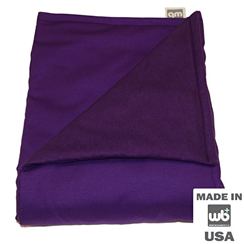 "WEIGHTED BLANKETS PLUS LLC - TEEN MEDIUM WEIGHTED BLANKET - PURPLE - COTTON/FLANNEL (58""L x 41""W) 12lb HIGH PRESSURE"