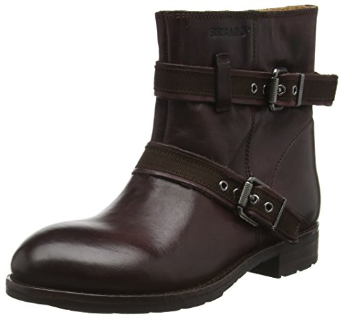 Sebago Women's Laney Mid Ankle Boots Red (Burgundy Leather) RTxqF0