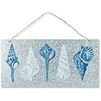 Lone Elm Studios 94359 Metal Sea Shell Wall Decor Christmas, 28InL x 28InW x 14InH, Multicolor