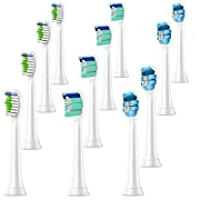12 Pack Brush Heads,Toothbrush Replacement Heads Compatible with Sonicare HX6063/64, Plaque Control, 2 Series Plaque Control, 3 Series Gum Health, FlexCare, HealthyWhite,