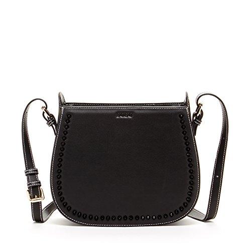 Women's Black Studded Leather Bag: Amazon.com