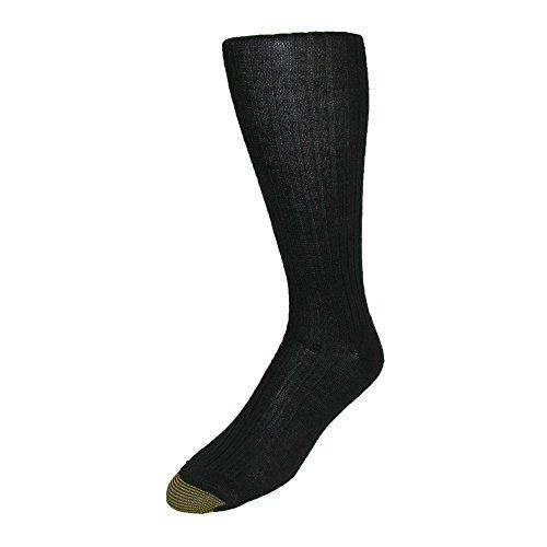 Gold Toe Men's Windsor Wool Over the Calf Socks (Pack of 3), Black