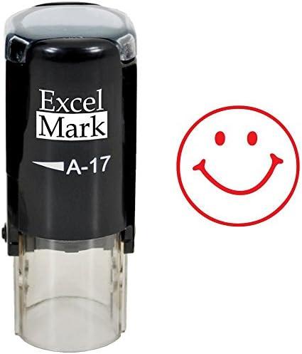 Smiley Face Pre-inked School Marking Feedback Stamp For Teachers Children 25MM