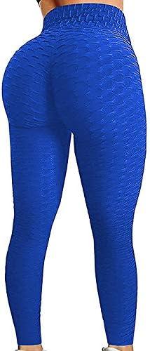 CROSS1946 Womens Textured High Waist Booty Ruched Legging Butt Lift Workout Yoga Pants