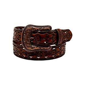 ARIAT Women's Copper Buckle Triangle Cut Out Belt