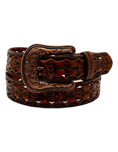 ARIAT Womens Copper Buckle Triangle Cut Out Belt