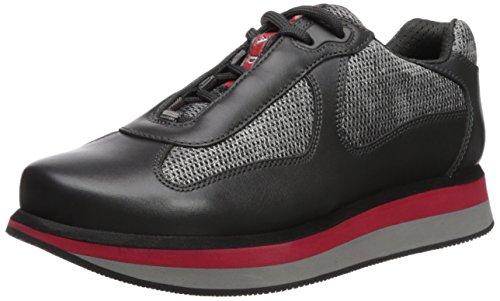 Prada Women's Platform Sneaker, Anthracite, 36 M EU/6 M US (Women Prada Sneakers)