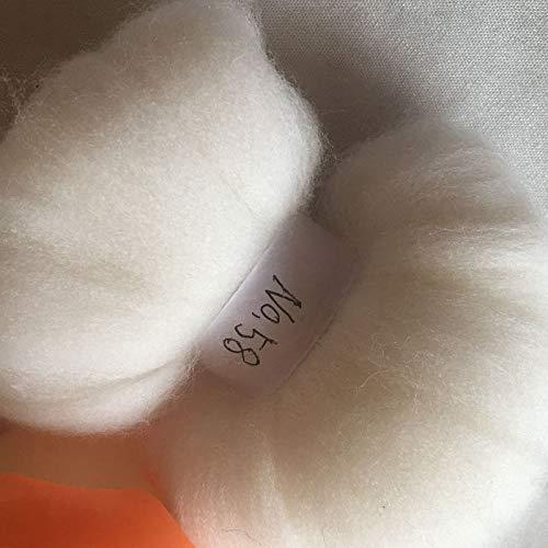 Maslin 70s Australia Combed 100% Wool Fiber Merino DIY Wool for neddles Felting 50g 100g 200g 300g 500g 1000g NO.58 - (Color: 500g)