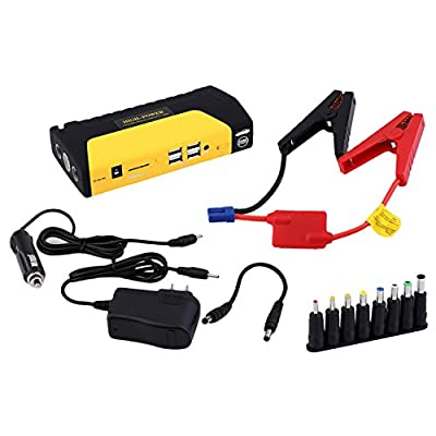 Portable 68800mAh 4USB Auto Jump Starter Emergency Charger Booster Power Bank Battery SOS Black And Yellow TM15A Portable 68800mAh 4 USB Car Jump Starter Booster Power Bank Battery TM15A