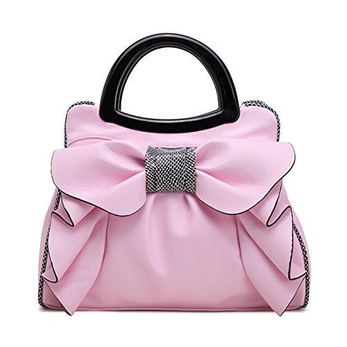 Tote KAXIDY Knot White Satchel Handbags Messenger Bow Ladies PU Girl Pink Bags Handbag Leather Shopper PYBPrqw