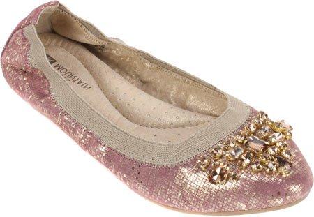 White Mountain Careilla Ballet Flats Women Rose/Gold GT9XGHpu