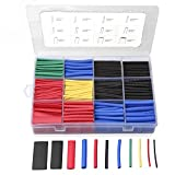 560PCS Heat Shrink Tubing 2:1, Eventronic Electrical Wire Cable Wrap Assortment Electric Insulation Heat Shrink Tube Kit with Box(5 colors/12 Sizes): more info
