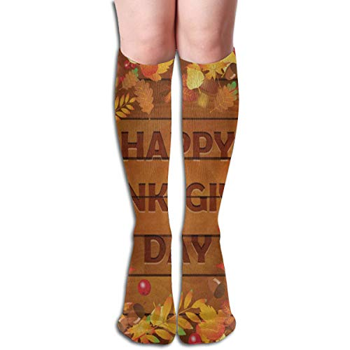 Socks Happy Thanksgiving Day Autumn Maple Leaves On Wooden Great Womens Stocking Decor Sock Clearance for Girls for $<!--$11.99-->