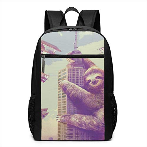 Oswz Sloth Climbing in New York Laptop Backpack for Women Men Stylish Backpack College School Backpack Business Travel Durable Backpack Fit Laptop (Best Overnight Hikes In New York)