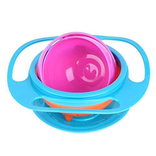 Bowls - Universal Gyro Bowl Practical Design Children 360 Rotary Balance Novelty Umbrella Food Grade Pp - Toddlers Infant Green Toilets For Covers Handmade Glow Small Prep ()