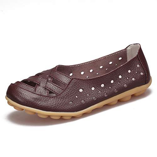 Trou Mou Respirant Lzw Résistant Chaussures Antidérapant Fond Désodorisation Plates L'usure Brown Creux Confortable À Chaussure ggqPRw