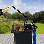 Relaxdays-Compattatore-Rifiuti-Trash-Compactor-Pressa-Bidone-Spazzatura-Esterno-Compattatore-Domestico-Acciaio-Nero
