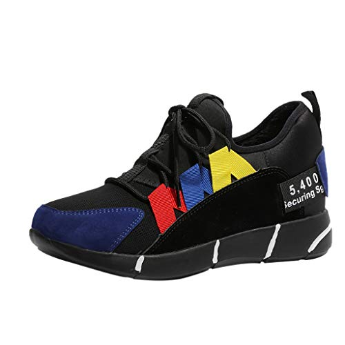 ANOKA Slip on Sneakers for Women Sale Woman Fashion Casual Trainers Lace-up Breathable Sneakers Sport Running Shoes Blue Size 6.5