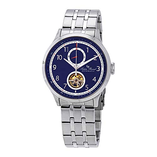 Lucien Piccard Open Heart GMT II Automatic Blue Dial Men's Watch LP-28010A-33