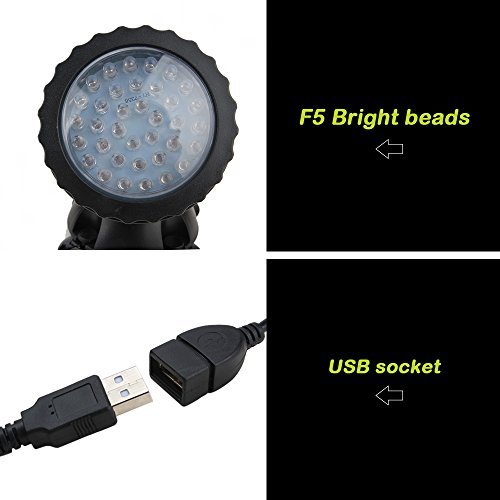 Senzeal Pond Lights RGB Color IP68 Waterproof 36 LED Spot Light with Remote Control for Garden Pond Fountain Lighting by Senzeal (Image #3)