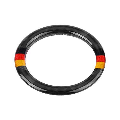 (Acouto Carbon Fiber Car Engine Start Button Ring Decorative Frame Cover for BMW E90/92/93(German color))