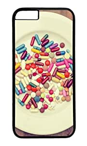 iPhone 6 Plus Case,VUTTOO Stylish Pills Dinner Hard Case For Apple iPhone 6 Plus (5.5 Inch) - PC Black