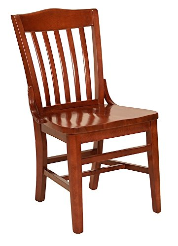 Ac Furniture Side Chair - AC Furniture 2996 Side Chair, Slat back with Wood Saddle Seat, Shown in Wild Cherry, 18.25