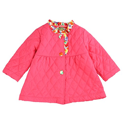 Maria Elena - Toddler Soft Cotton Diamond Quilted Jacket Casey-Bee - (Hot Pink, 3T)