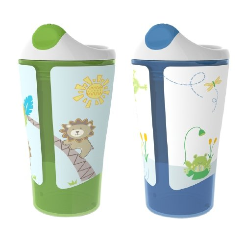 BornFree Grow With Me Sippy Cup, Boy, 10 oz 2 ea (pack of 3)