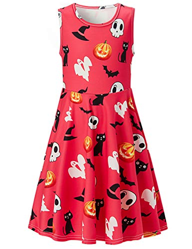 (ALOOCA Girls Party Dress up Costumes Halloween Print Clothes Play wear)