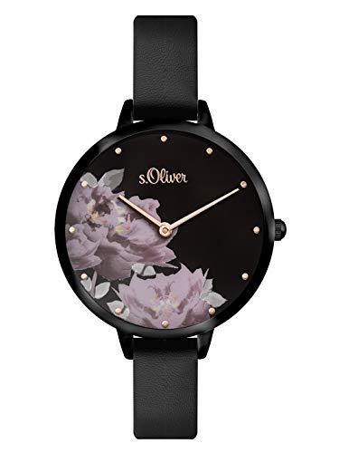 s.Oliver Womens Analogue Quartz Watch with PU Strap SO-3538-LQ